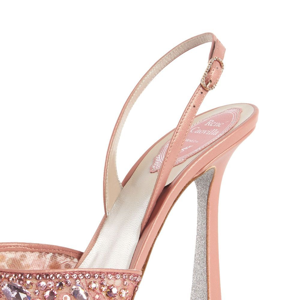 Pink jewel slingbacks CRYSTAL